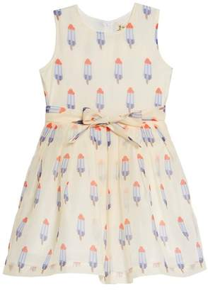 DOE A DEAR Popsicle Print Fit & Flare Dress (Toddler Girls, Little Girls & Big Girls)