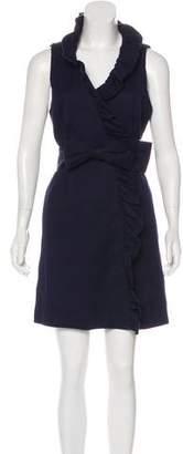 Milly Ruffle-Trimmed Mini Dress