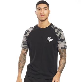 0ade1de1 Loyalty And Faith Mens Vendor Camo Print Raglan T-Shirt Black