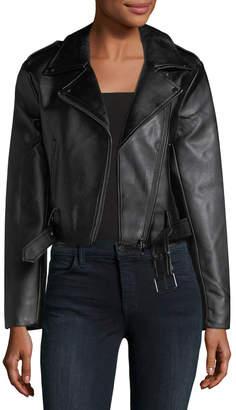 Catherine Malandrino Vegan-Leather Motorcycle Jacket