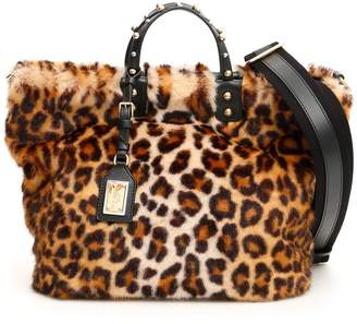 Dolce & Gabbana Beatrice Faux Fur Shopper