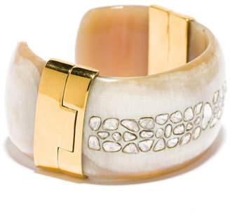 Ashley Pittman Quinn White Diamond Light Horn Cuff