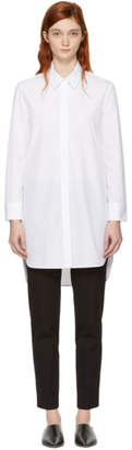 Neil Barrett White Poplin Shirt Dress