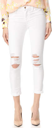 Joe's Jeans Andie Mid Rise Skinny Crop Jeans $198 thestylecure.com