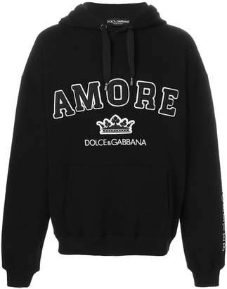 Dolce & Gabbana Amore appliqué hoodie