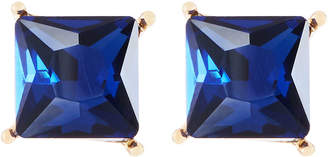 Emily and Ashley Greenbeads By Midnight Blue Square Stud Earrings