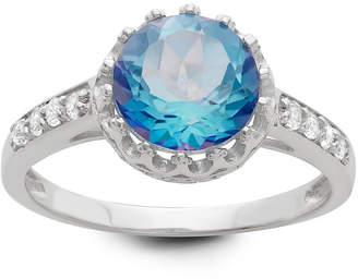 FINE JEWELRY Genuine Mystic Blue Topaz Sterling Silver Ring