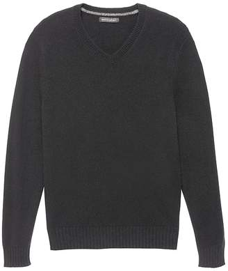 Banana Republic Italian Merino Wool V-Neck Sweater