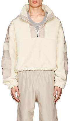 GmbH Men's Mathis Sherpa & Twill Pullover Jacket