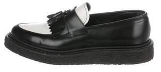 4a0d716b6cefa Saint Laurent Bicolor Leather Loafers