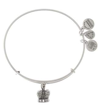 Alex and Ani Crystal Detail King Crown Pendant Expandable Wire Bracelet