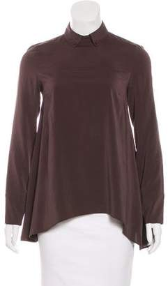 Brunello Cucinelli Silk Asymmetrical Top