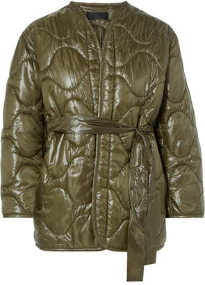 Nili Lotan Varick Quilted Shell Jacket - Army green