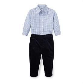 Polo Ralph Lauren Plaid Poplin Shirt & Pant Set (6-12 Months)