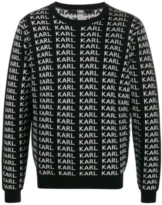 Karl Lagerfeld Paris print jumper