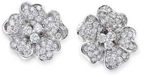 Leo Pizzo Iconic Flower 18k White Gold Diamond Earrings
