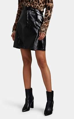 Helmut Lang Women's Patent Leather High-Rise Miniskirt - Black