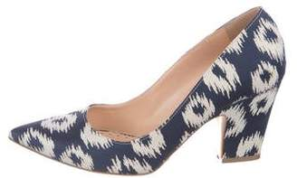 Rupert Sanderson Canvas Pointed-Toe Pumps