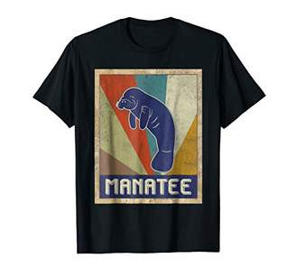 Manatee Vintage Style Funny Christmas T-shirt