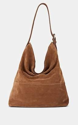 Barneys New York Women's Suede Hobo Bag - Med. brown