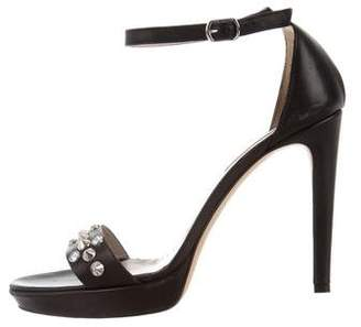 Rebecca Taylor Leather Spiked Sandals