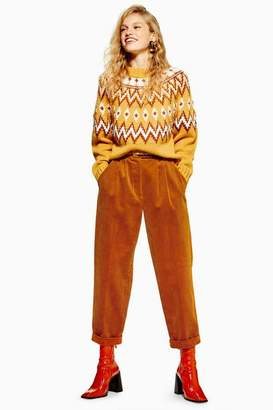 Topshop Womens Corduroy Button Trousers
