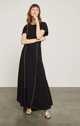 BCBGMAXAZRIA Cape-Sleeve Gown