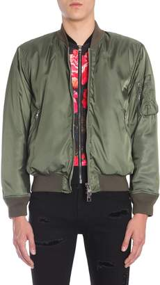 Alexander McQueen Painted Rose Bomber Jacket