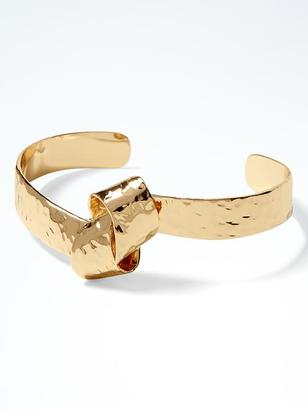 Hammered Gold Knot Cuff $38 thestylecure.com