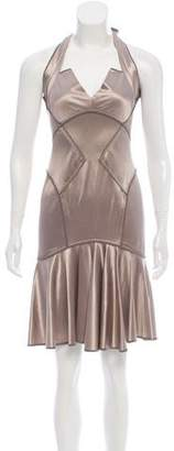 Zac Posen Satin Halter Dress