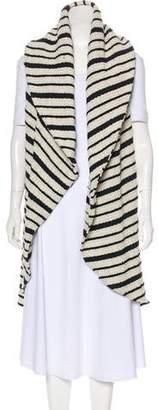 Alice + Olivia Striped Longline Vest