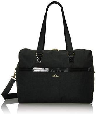 Kipling Sasso Black Patent Combo Duffle Bag