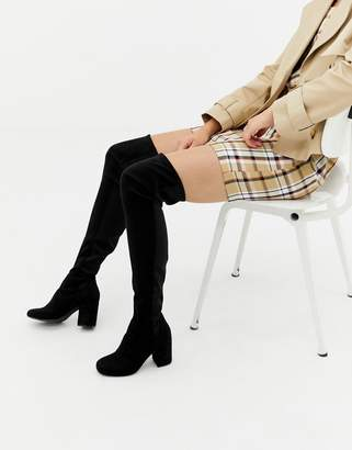 Asos Design DESIGN Kadi heeled thigh high boots
