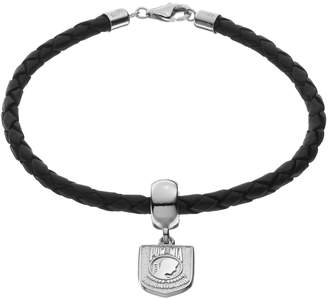 "Insignia Collection Sterling Silver & Leather ""POW MIA"" Charm Bracelet"