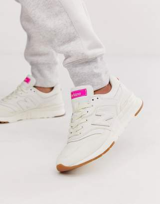 New Balance 997 white trainers