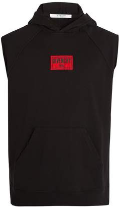 Givenchy Hooded sleeveless cotton sweatshirt