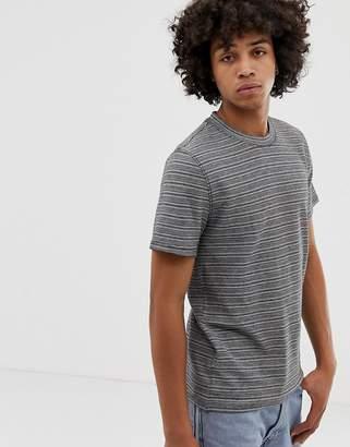 Weekday Sin T-shirt in gray stripe