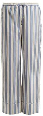 Max Mara Beachwear - Terry Trousers - Womens - Blue Stripe