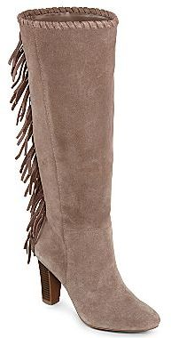 Cosmopolitan Odessa Fringed Tall Suede Boots