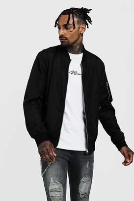 boohoo Bomber Jacket With Zip Pockets