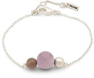 Pilgrim Women Silver Plated Strand Bracelet - 601836602