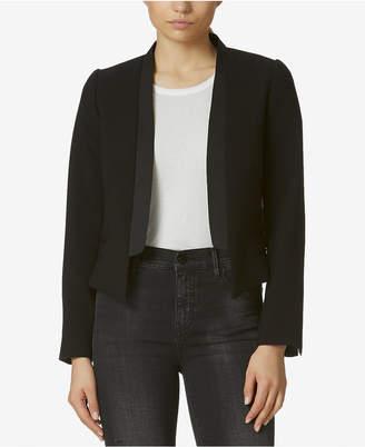 AVEC LES FILLES Cropped Tuxedo Jacket