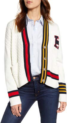 Tommy Hilfiger Cable Varsity Cardigan