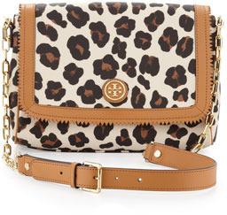 Tory Burch Kerrington Leopard-Print Crossbody Bag