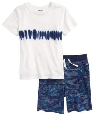 Splendid Tie Dye T-Shirt & Whale Camo Shorts Set