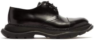 Alexander McQueen Raised-sole leather derby shoes
