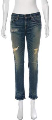 Simon Miller Mid-Rise Distressed Jeans