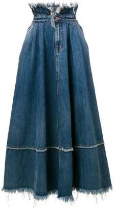 Diesel frayed edge skirt