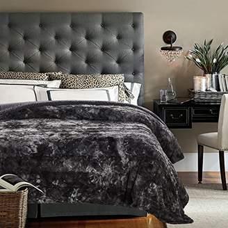 "Chanasya Faux Fur Bed Throw Blanket - Super Soft Fuzzy Cozy Warm Fluffy Beautiful Color Variation Print Plush Sherpa Microfiber Gray Blanket (86""x108"") KING"