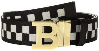 Bally B Buckle 40 Checkered Belt